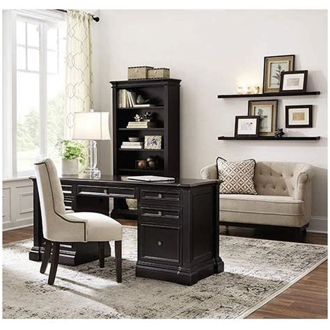 home depot home decorators collection home decorators collection bufford rubbed black desk with