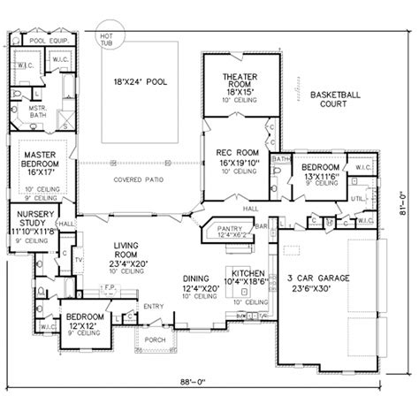 perry home plans floor plan 8086
