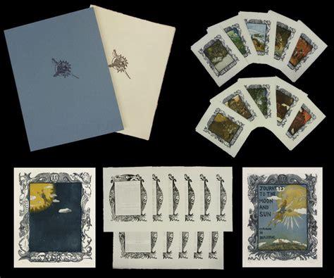 Handmade Portfolio Book - journey to the moon and sun handmade book in portfolio