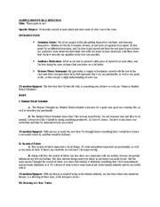 Bag Speech Outline by Spc 1608 Speech Outline Valencia Course