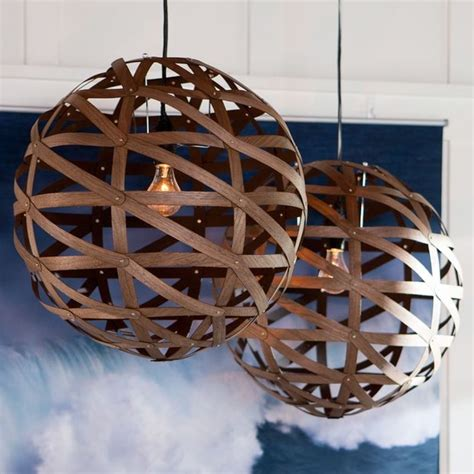 Wooden Light Pendant Austen Wood Veneer Pendant Modern Pendant Lighting By Pbteen