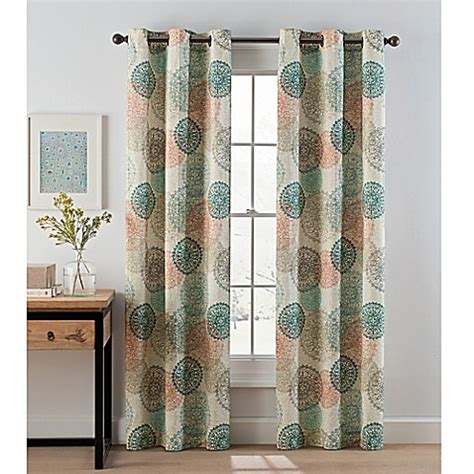 cheap curtain panel pairs medallion grommet top window curtain panel pair bed bath