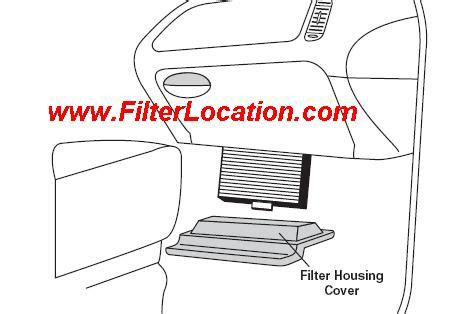 ford duty cabin air filter location