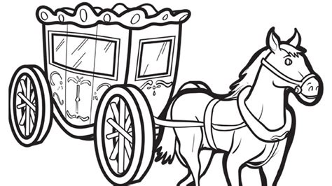 horse and cart printable coloring pages