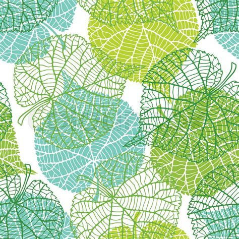 seamless pattern nature seamless nature pattern with stylized green leaves