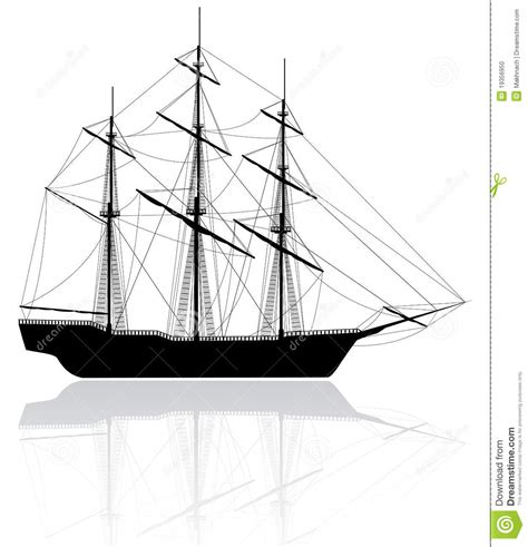 dessin bateau noir vieux bateau noir d isolement sur le blanc illustration de