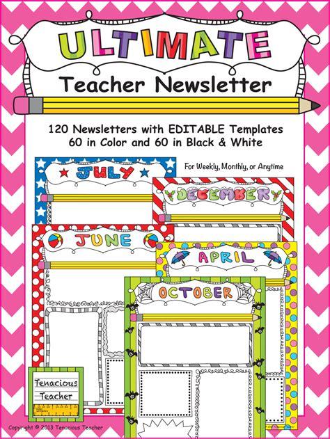 teacher newsletter templates 10 awesome classroom newsletter