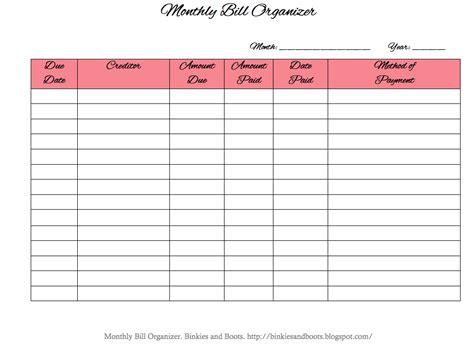bill organizer template madinbelgrade