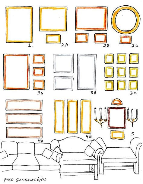 how to hang artwork hanging pictures over a sofa home decor tips pinterest