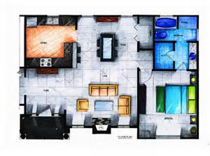 Hand Rendered Floor Plan 1000 Images About Hand Drawings Design On Pinterest