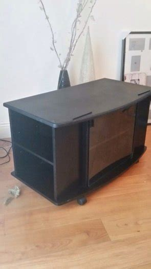 Black Tv Cabinet With Glass Doors Black Tv Cabinet With Glass Doors For Sale In Tyrrelstown Dublin From Dec182