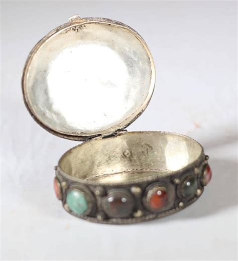 Decorative Stones India by Mid Century Indian Box With Semi Precious Stones At 1stdibs