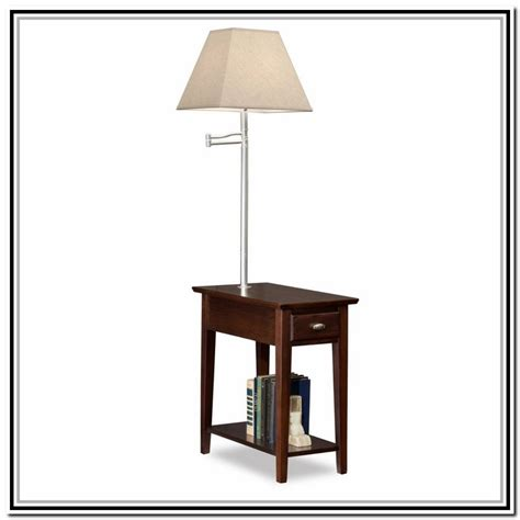 end table with light attached end tables with ls attached lighting and ceiling fans
