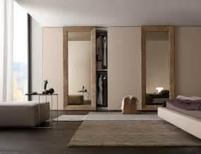 presotto wardrobe with liscia sliding doors in corda