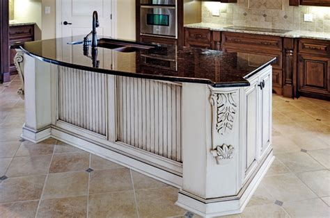 custom glazed kitchen cabinets roselawnlutheran painted island with glazed finish traditional kitchen