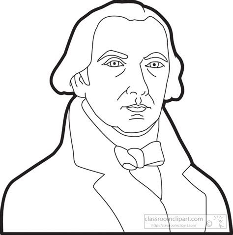 how to draw step by step john adams american presidents clipart president james madison