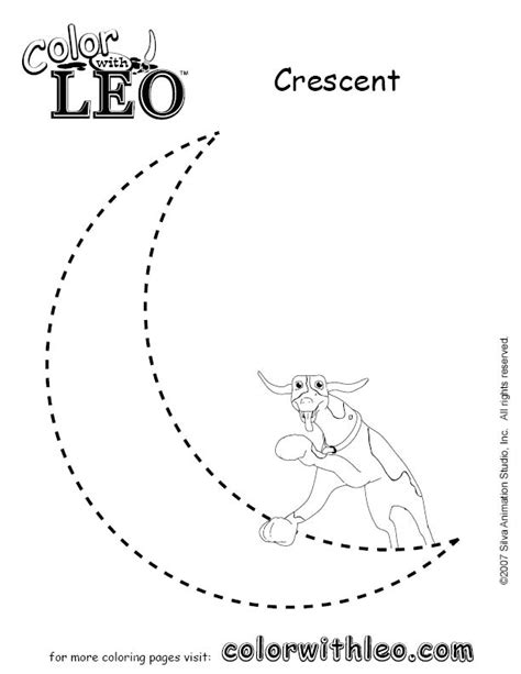 Crescent Shape Worksheets For Preschoolers free tracing crescent coloring pages
