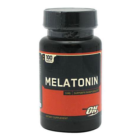the best melatonin optimum nutrition melatonin 3mg 100 tablets