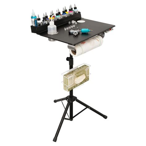 tattoo equipment and supplies portable workstation compact stand travel desk tray