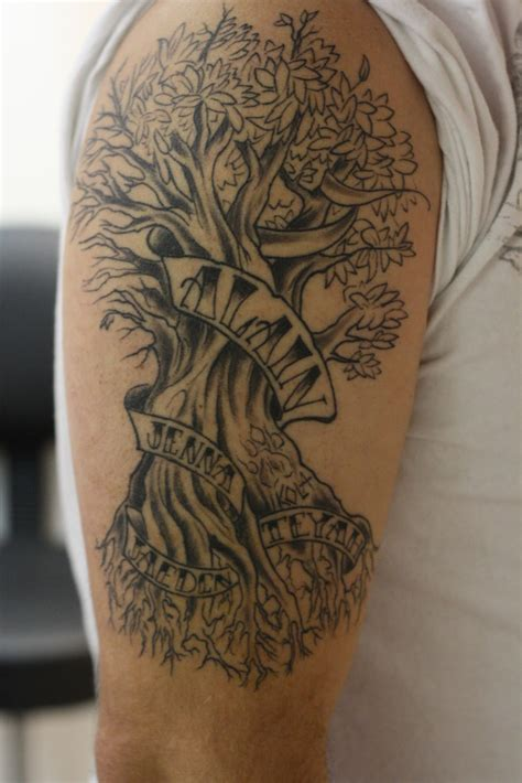 right arm half sleeve tattoo designs tree images designs