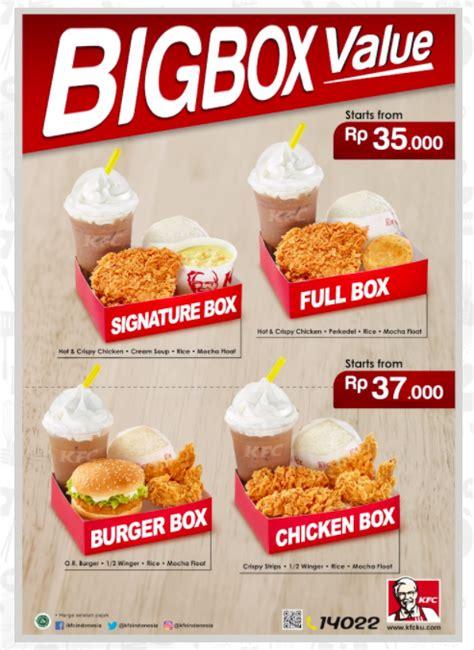 Big Mac Paket Hemat kfc big box value kfc harga menu big box value kfc