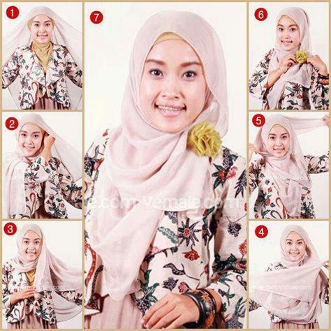tutorial hijab paris terbaru 1000 images about hijab tutorial on pinterest simple