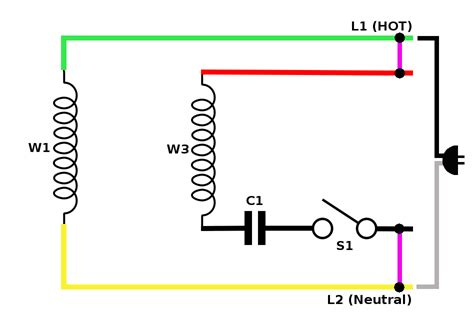 dual capacitor motor wire diagram wiring diagram
