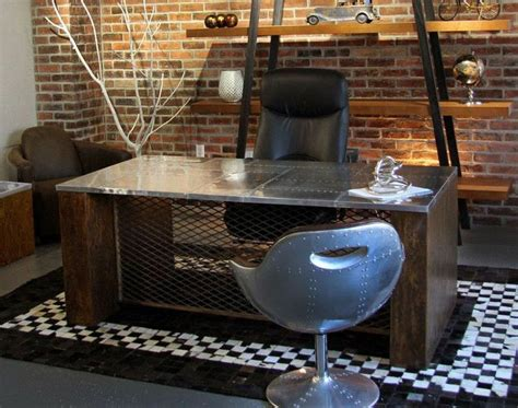 office desk executive furniture workstation urban industrial modern style table ebay