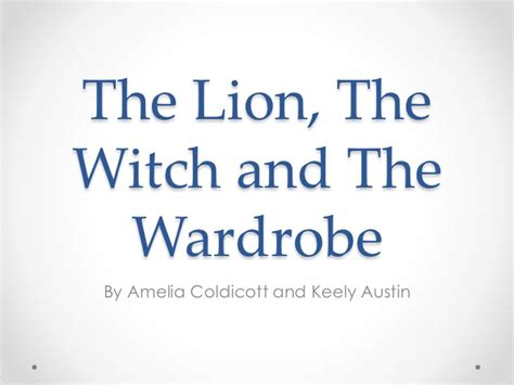 Analysis Of The The Witch And The Wardrobe the the witch and the wardrobe analysis