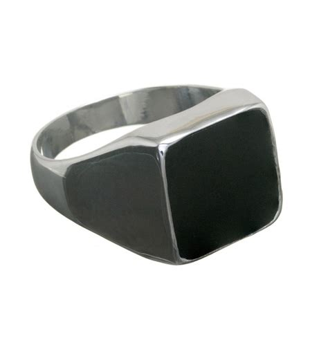black onyx square sterling silver ring regnas jewelry