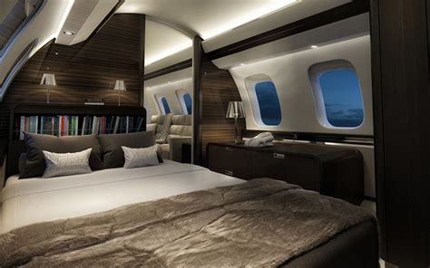 private jet with bedroom bombardier global 7000 luxury jet
