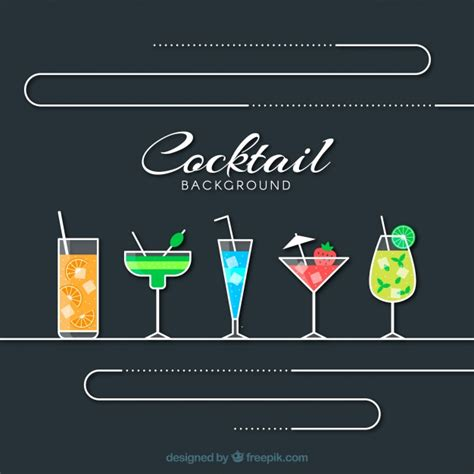 cocktails background cocktail background vector free