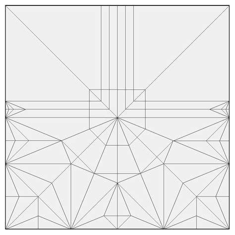 Crease Pattern Origami - origami crease patterns