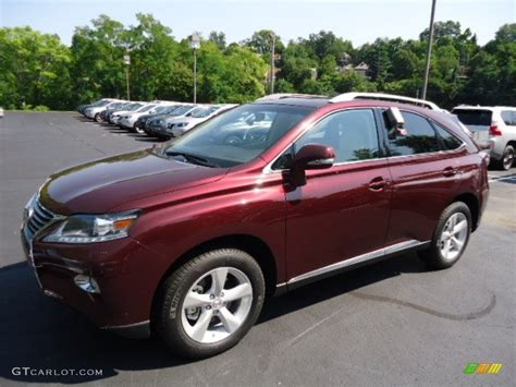lexus rx red claret red mica 2013 lexus rx 350 awd exterior photo