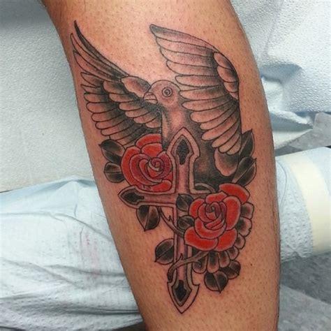 110 Dove Tattoo Designs Ideas Design Trends Premium Dove And Cross Tattoos