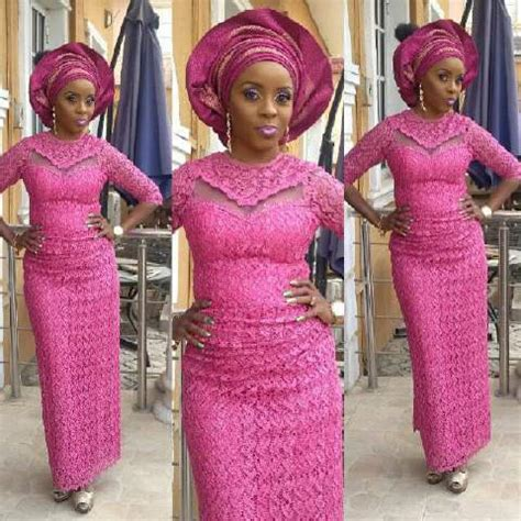 styles of purple cordlace top ten unique and stylish aso ebi cord lace styles dabonke