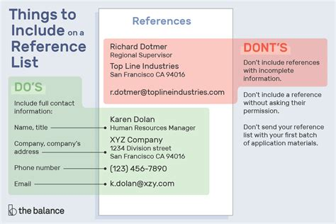 job reference list format resume reference format