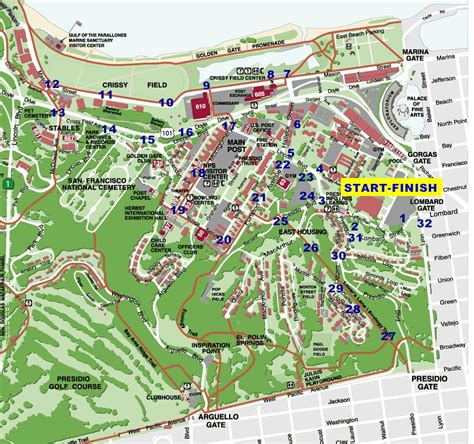 san francisco heightmap presidio trail run courses presidio rx san francisco
