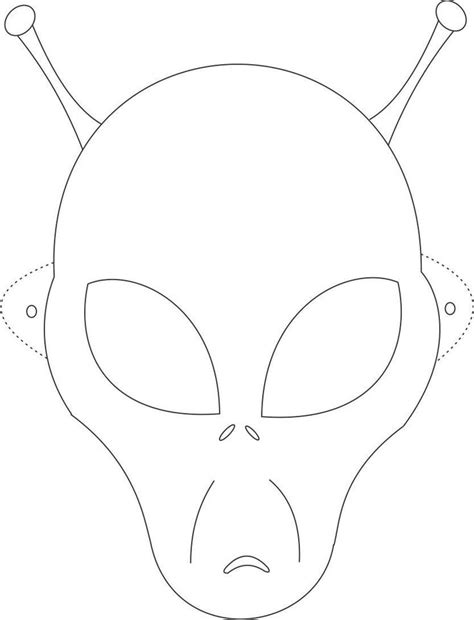 pages templates for students alien mask printable coloring page for kids art holiday