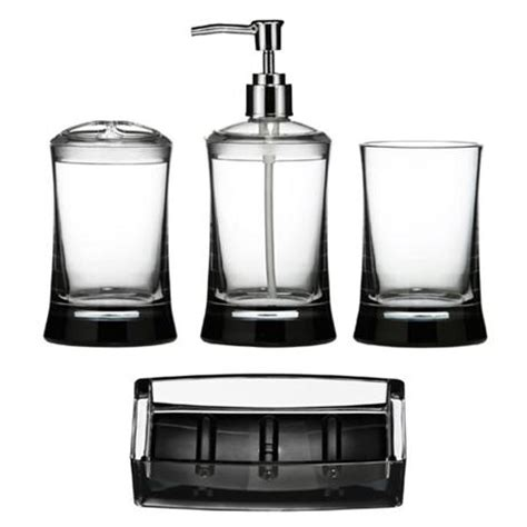 clear acrylic bathroom accessories 4 piece clear acrylic bathroom accessories set at