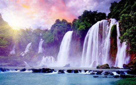 wallpaper alam laptop koleksi wallpaper pemandangan alam air terjun natural