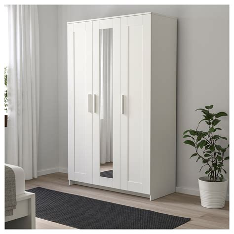 ikea white 3 door wardrobe brimnes wardrobe with 3 doors white 117x190 cm ikea