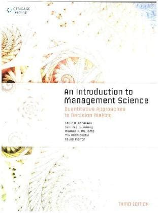 an introduction to management science quantitative approach books an introduction to management science quantitative