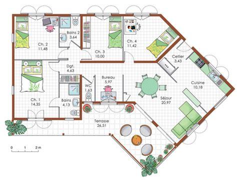 chambre a air 3 5 4 maison de plain pied 5 d 233 du plan de maison de plain