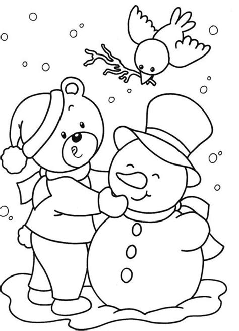 free winter coloring pages for kids az coloring pages