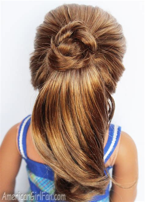 Fancy Ponytail Hairstyles by Doll Hairstyle Fancy Ponytail Americangirlfan