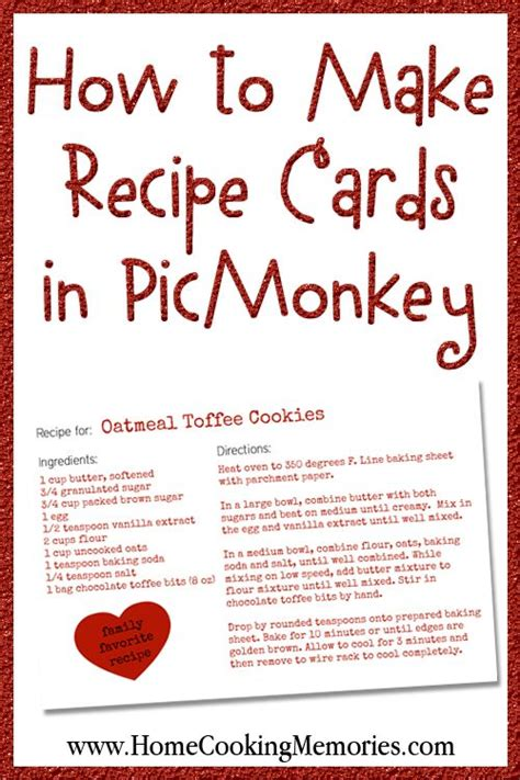 Chef Recipe Card Template by How To Make Recipe Cards In Picmonkey Recipe Cards