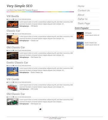 template seo simple 3 template valid html5 dan responsive