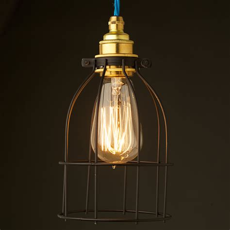 Home Decor Stores In Usa by Light Bulb Black Cage Fitting 7 Inch
