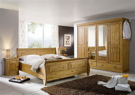 Schlafzimmer Holz Massiv by Schlafzimmer Set 4teilig Kiefer Massiv Honigfarben Lackiert